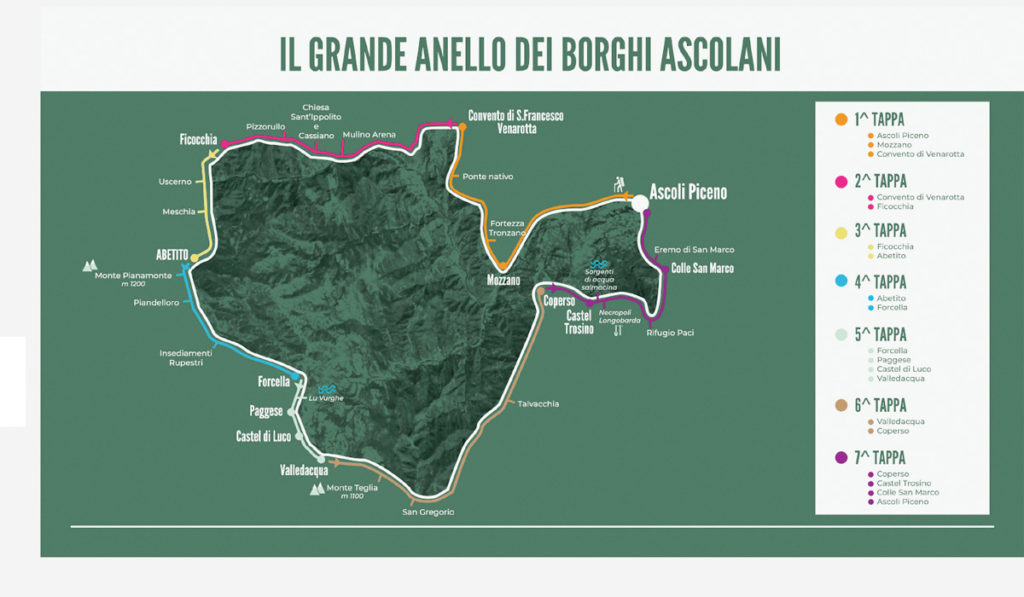 The Great Ring of Borghi Ascolani experience, 100 km of wonders