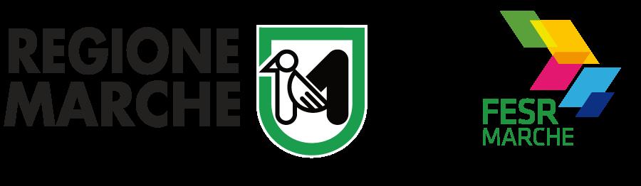 Logo Regione Marche - Logo FESR Marche