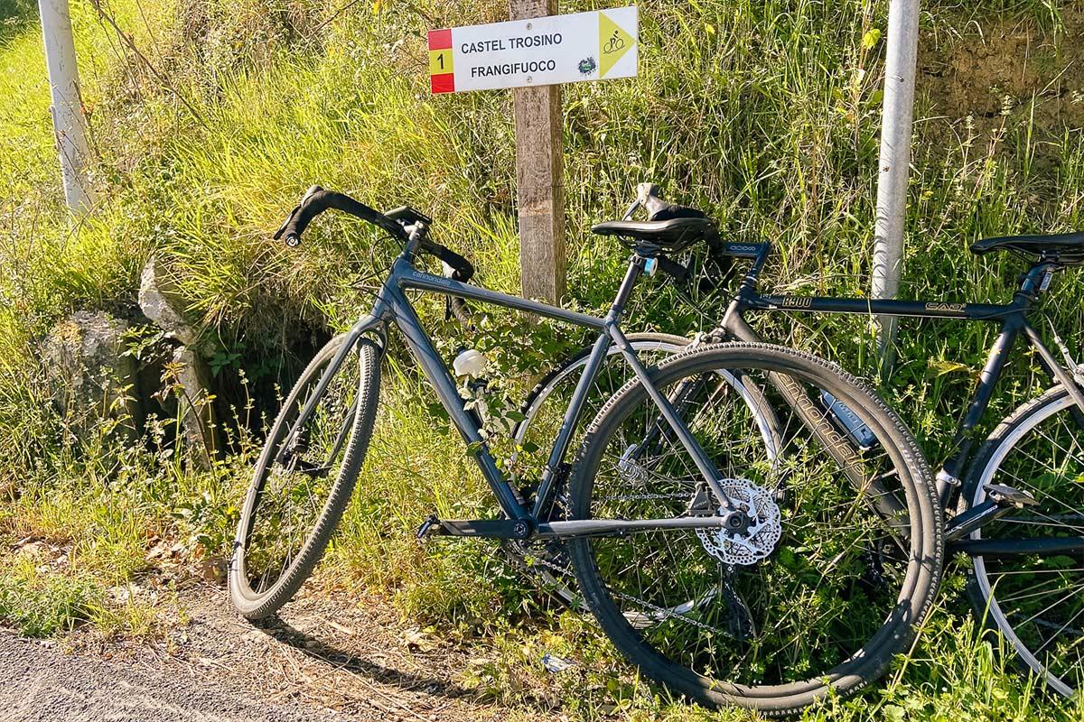 Percorsi verso Castel Trosino e Frangifuoco da fare in bicicletta nei dintorni di Ascoli